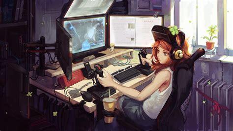 wallpaper gamer girl best free gamer anime girl art wallpaper hd images