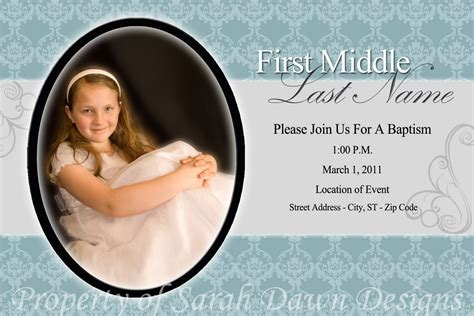 lds baptism invitations template best template collection