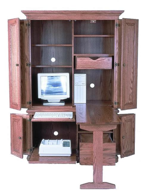Armoire With Desk by Computer Armoire Desk Roselawnlutheran