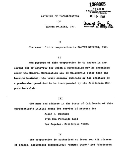 sle of articles of incorporation logo