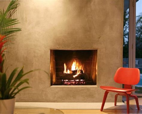 Stucco Fireplace Designs