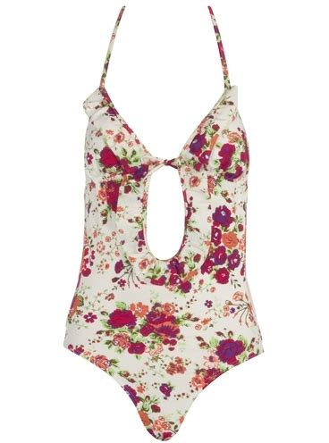 Marciano Bridget Jumpsuit It Or It by Dorothy Perkins White Floral Cut Out Swimsuit 7 Colourful