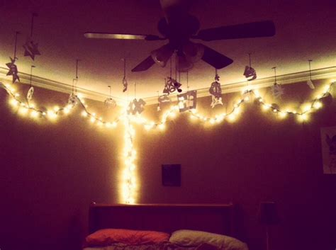 tumblr room put up pictures hang christmas lights put