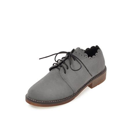 Low Heel Oxfords gray lace up casual winter low heel oxfords best fashion hq