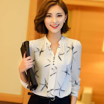 Kemeja Putih Kantor Wanita Xl kedatangan baru 2016 musim semi womens chiffon blouse