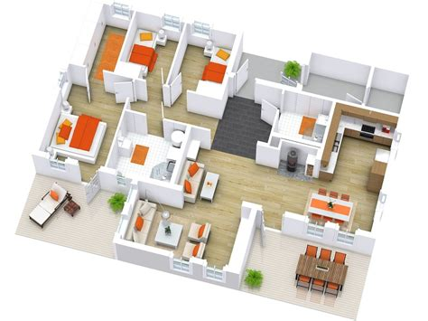 home design plans ground floor 3d floor plans roomsketcher