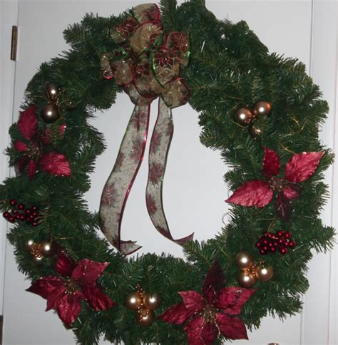 36 inch christmas indoor outdoor wreath evergreen with wine