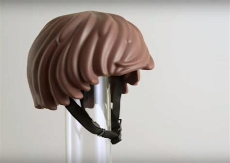 helmet hair cycling lego minifig hair bicycle helmet hair it is technabob
