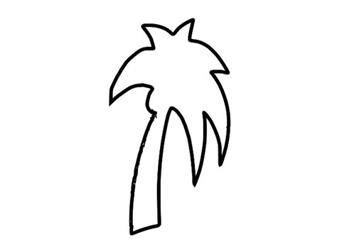 Palm Tree Outline by Palm Tree Outline Clip Clipart Panda Free Clipart Images