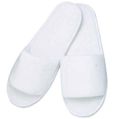 white spa slippers premium open toe terry spa slippers white 1 pr