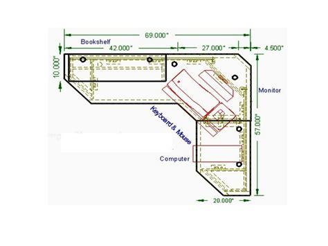 L Shaped Desk Plans   Whitevan