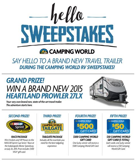 Travel Trailer Sweepstakes - sweepstakes to win rv in 2015 autos post