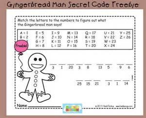 gingerbread man secret code worksheet freebie heidi songs