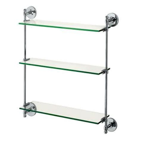 Home Depot Bathroom Shelves by Gatco Premier Tempered 25 In Adjustable Bath Shelf In