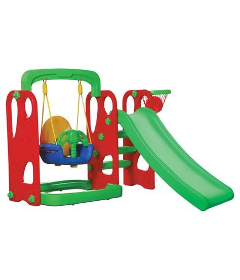plastic swing and slide playgro green plastic slide and swing buy playgro green
