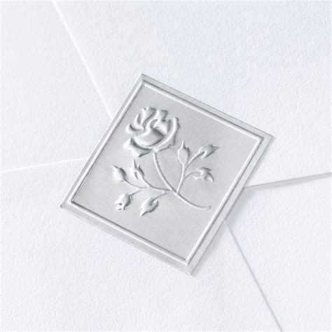 blank printable envelope seals blank silver embossed rose seal wedding seal invitations