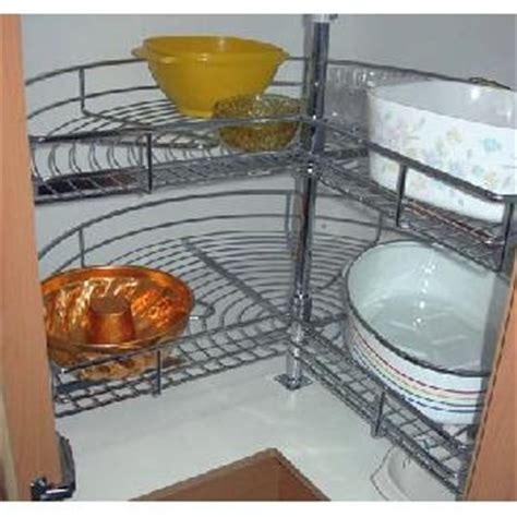 Kitchen Cupboard Rotating Shelf by Rotating Shelves Chrome Large 2 Level Crs02
