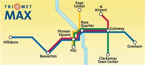 portland light rail map simple rail system map portland