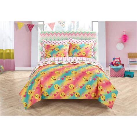 bed set walmart emoji pals bed in a bag bedding set walmart com