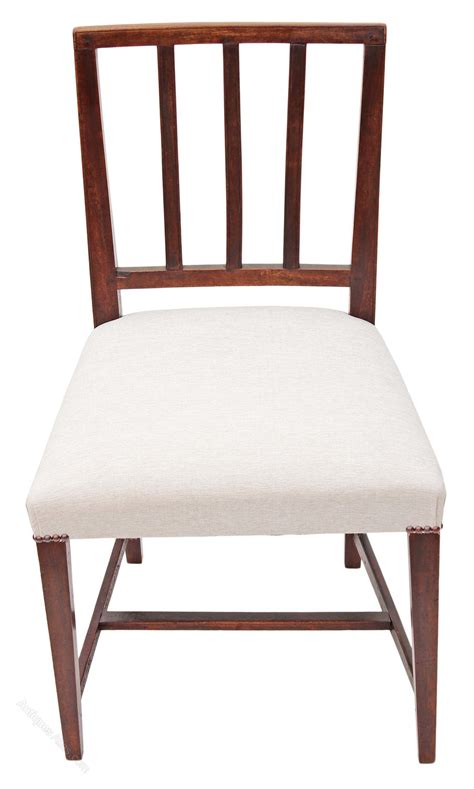 Set 6 Dining Chairs Set Of 6 Georgian Dining Chairs Mahogany Antiques Atlas