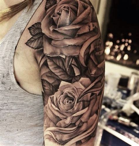 63 black and grey awesome shoulder tattoos