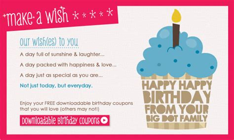 printable birthday coupon template free printables make a wish birthday coupons big dot of