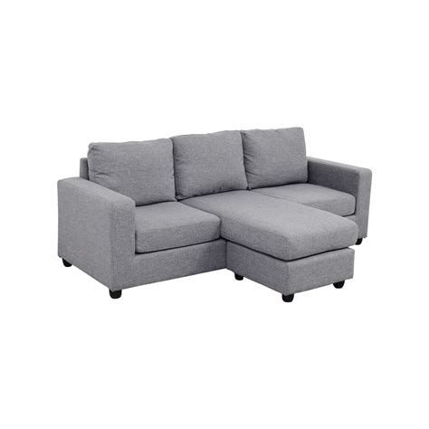 l shaped grey sofa 35 off grey l shaped chaise couch sofas