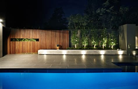 Ddb Design Exteriors Pools Contemporary Pool Landscape Lighting Melbourne