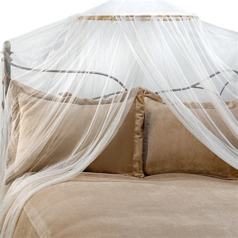 Mosquito Net Bed Canopy Buy Siam Bed Canopy And Mosquito Net In Ivory From Bed Bath Beyond
