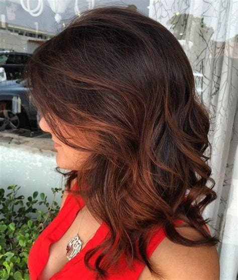 diy auburn highlights for brown hair 60 hairstyles featuring dark brown hair with highlights