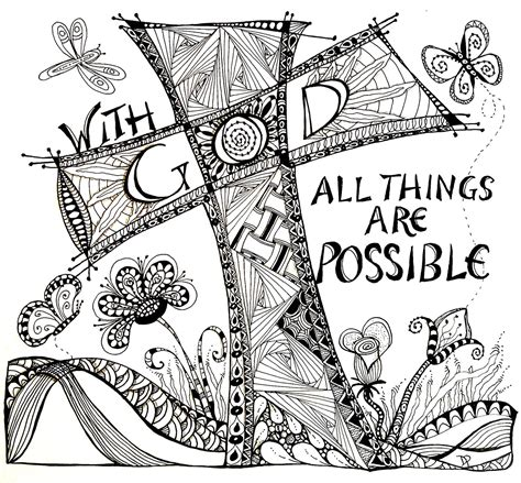 doodle name darlene items similar to with god all things are possible on etsy