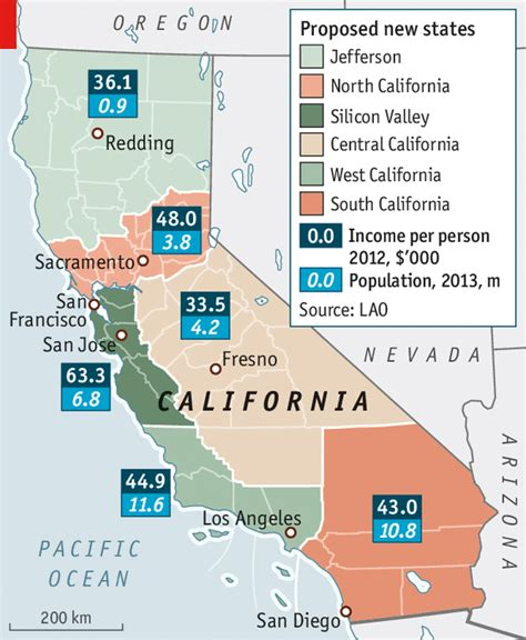 california map divided by counties splitting up california division the economist