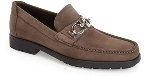 ferragamo master loafer sale ferragamo master loafer in brown for lyst