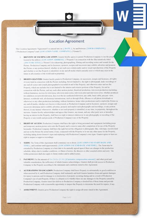 location release agreement template free download sethero