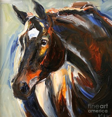 Home Decor Apps For Ipad Black Horse Oil Painting Painting By Maria S Watercolor