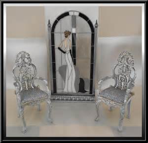 silver shabby chic chair pair 75 00 dollhouse linens and more custom made dollhouse drapes