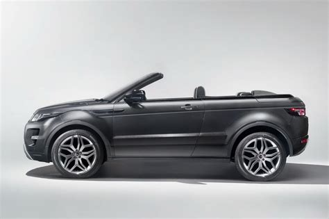 land rover evoque black convertible foto land rover range rover evoque convertible concept