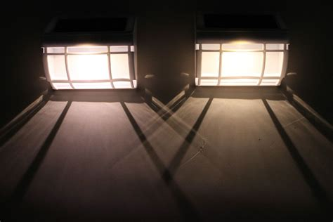 solar wall mount light two solar wall mount lights