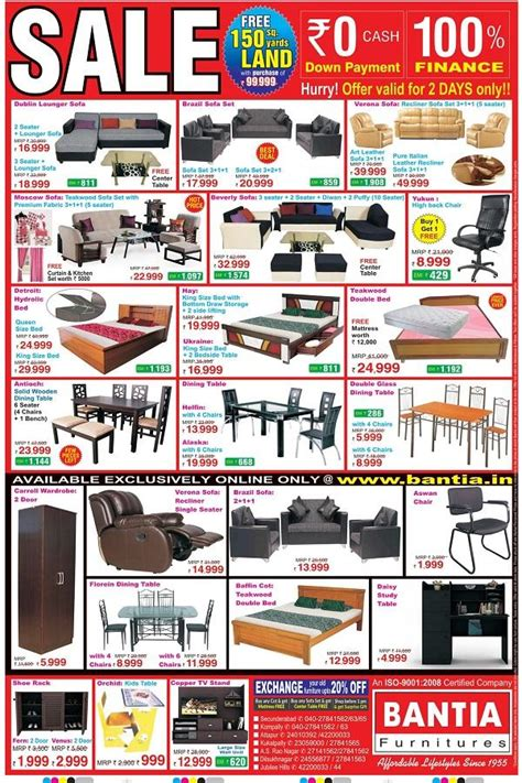 bantia furniture hyderabad sales discounts offers 2018