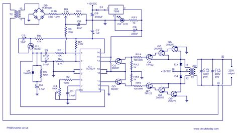 inverter circuit diagram august 2012 electronics solution