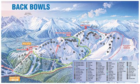 map of us ski area lake louise lake louise ski resort