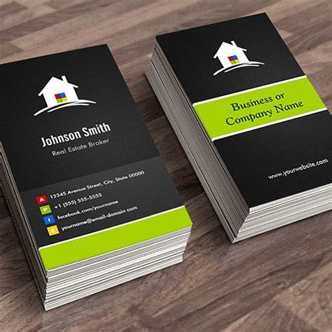 business card oultet template customizable real estate broker premium creative