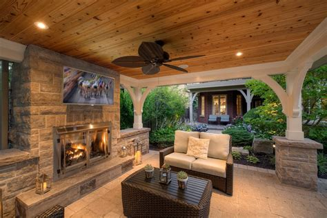 Patio Furniture Lighting Landscaping Ideas Patio Transitional With Outdoor Tv Recessed Lighting Woven Outdoor