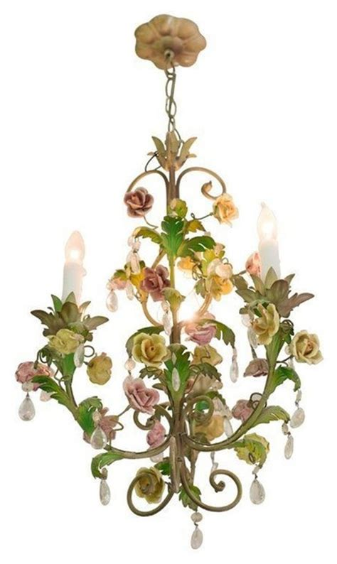 Tropical Chandelier Used Ornate And Vine Chandelier Tropical Chandeliers By Chairish