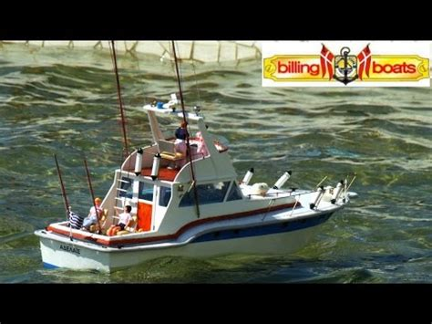 rc fishing boat videos cvp billing boats blue star rc fishing boat quot adelais quot by