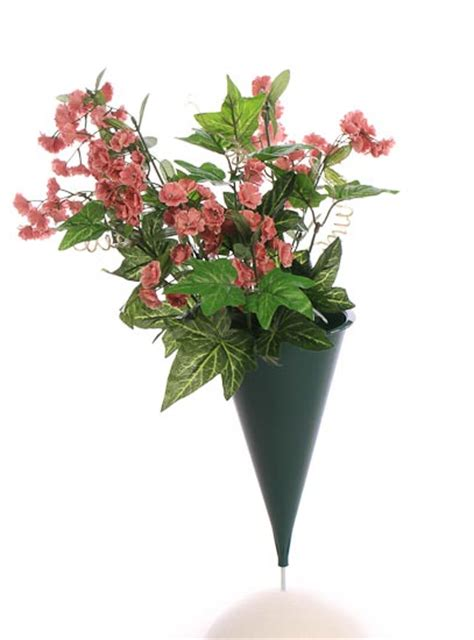 Plastic Flower Vases For Cemetery by Green Plastic Cone Cemetery Vase Floral Design