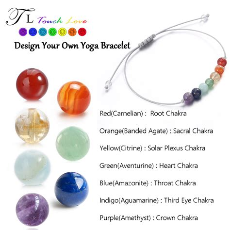 TL 7 CHAKRA Healing Balance Beads BRACELET 6mm Yoga Bracelet Stone for Women/Men Natural Stone
