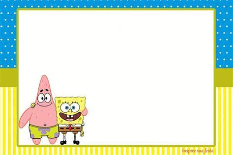modelo convite personalizado gratuito bob esponja inspire