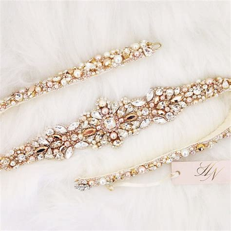 Wedding Accessories Belt by Items Similar To Gold And Blush Bridal Belt