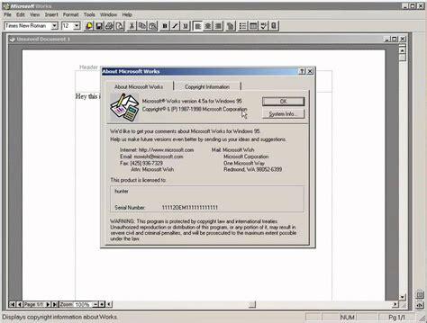 Work Microsoft Microsoft Works 4 5a For Windows 95